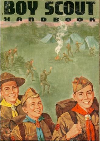 Lad scout boning outside