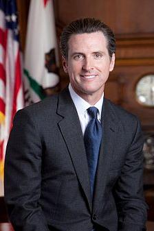 Gavin Newsome, Lt. Governor of California and former mayor of San Francisco.
